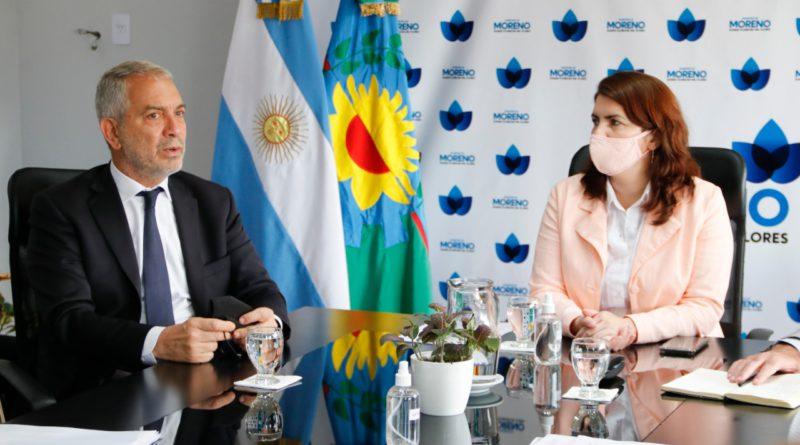 La intendenta de Moreno se reunió con el ministro Julio Alak